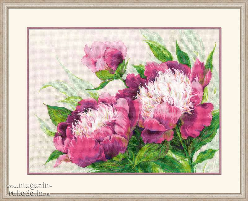 Вышивка цветы большие картины 19